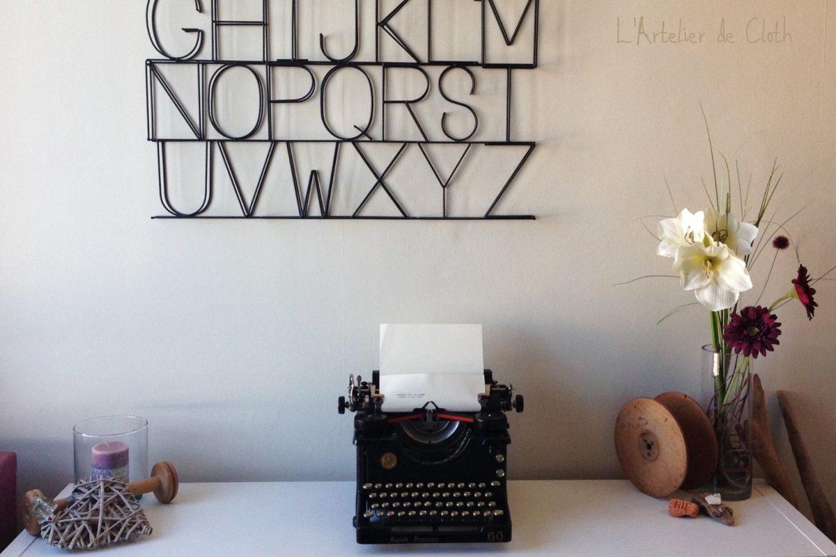 créatrice à Lorient artelier-ancienne-machine-à-écrire