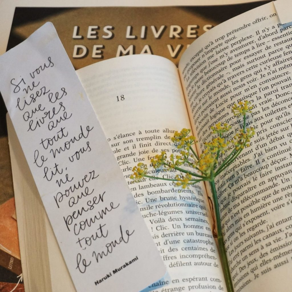 Sources inspiration d'une créatrice à Lorient : lecture